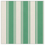 [ Thumbnail: Sea Green and Bisque Colored Stripes Fabric ]
