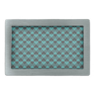 Sea Green and Gray Pattern. Rectangular Belt Buckle