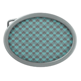 Sea Green and Gray Pattern. Belt Buckles