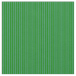 [ Thumbnail: Sea Green and Green Lines Pattern Fabric ]