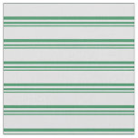 [ Thumbnail: Sea Green and Lavender Colored Stripes Fabric ]
