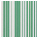 [ Thumbnail: Sea Green and Lavender Lines Pattern Fabric ]