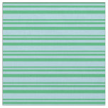 [ Thumbnail: Sea Green and Light Blue Colored Lines Fabric ]