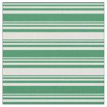 [ Thumbnail: Sea Green and Light Cyan Striped/Lined Pattern Fabric ]