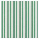 [ Thumbnail: Sea Green and Light Cyan Striped Pattern Fabric ]