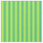 [ Thumbnail: Sea Green and Light Green Lines/Stripes Pattern Fabric ]