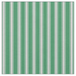 [ Thumbnail: Sea Green and Light Grey Lines Pattern Fabric ]