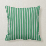 [ Thumbnail: Sea Green and Light Grey Lines Pattern Pillow ]