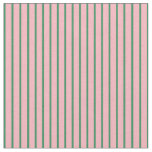 [ Thumbnail: Sea Green and Light Pink Striped/Lined Pattern Fabric ]