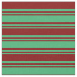 [ Thumbnail: Sea Green and Maroon Colored Pattern Fabric ]
