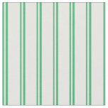 [ Thumbnail: Sea Green and Mint Cream Colored Stripes Pattern Fabric ]
