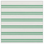 [ Thumbnail: Sea Green and Mint Cream Striped/Lined Pattern Fabric ]