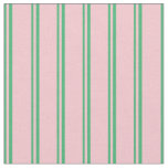 [ Thumbnail: Sea Green and Pink Lines Fabric ]