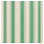 [ Thumbnail: Sea Green and Tan Colored Lines/Stripes Pattern Fabric ]