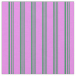 [ Thumbnail: Sea Green and Violet Striped/Lined Pattern Fabric ]