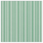 [ Thumbnail: Sea Green and White Colored Lines Pattern Fabric ]