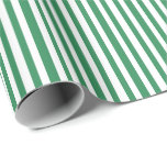 [ Thumbnail: Sea Green and White Colored Lines Pattern Wrapping Paper ]