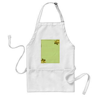 Sea Green and Yellow Plumeria Adult Apron