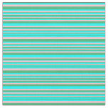 [ Thumbnail: Sea Green, Aqua, and Pink Lines/Stripes Pattern Fabric ]