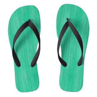 Sea Green Bamboo Look Flip Flops