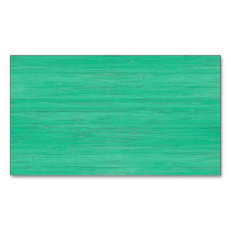 Sea Green Bamboo Look Magnetic Business Cards (Pack Of 25)