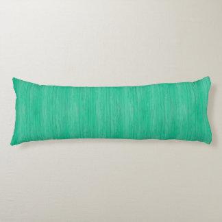 Sea Green Bamboo Wood Grain Look Body Pillow