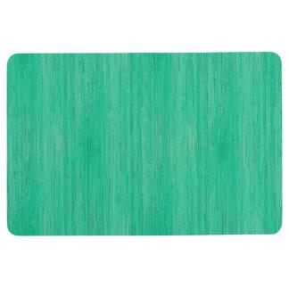 Sea Green Bamboo Wood Grain Look Floor Mat