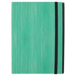 Sea Green Bamboo Wood Grain Look iPad Pro Case