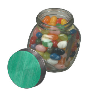 Sea Green Bamboo Wood Grain Look Jelly Belly Candy Jars