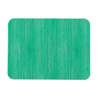 Sea Green Bamboo Wood Grain Look Magnet