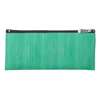 Sea Green Bamboo Wood Grain Look Pencil Case