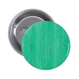Sea Green Bamboo Wood Grain Look Pinback Button