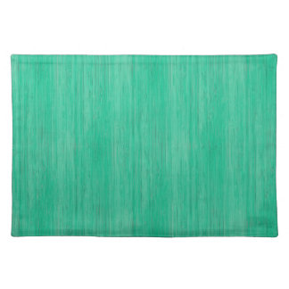 Sea Green Bamboo Wood Grain Look Placemat