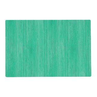 Sea Green Bamboo Wood Grain Look Placemat
