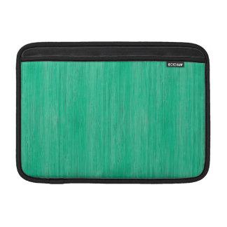 Sea Green Bamboo Wood Grain Look Sleeve For MacBook Air