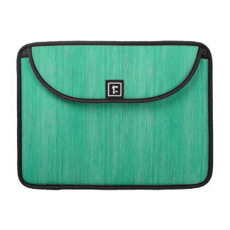 Sea Green Bamboo Wood Grain Look Sleeve For MacBooks