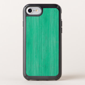 Sea Green Bamboo Wood Grain Look Speck iPhone Case
