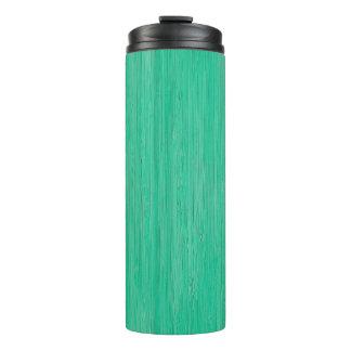 Sea Green Bamboo Wood Grain Look Thermal Tumbler