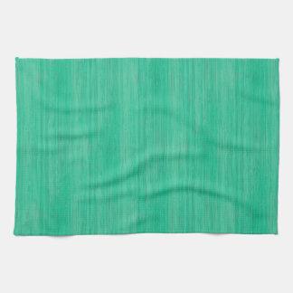 Sea Green Bamboo Wood Grain Look Towel