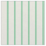 [ Thumbnail: Sea Green & Beige Pattern of Stripes Fabric ]