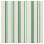 [ Thumbnail: Sea Green & Bisque Stripes Pattern Fabric ]