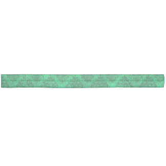 Sea Green Blue Ornate Damask Grunge Texture Design Ribbon Hair Tie