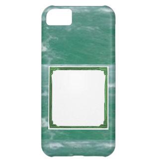 Sea Green Border Image / Text Holder iPhone 5C Case