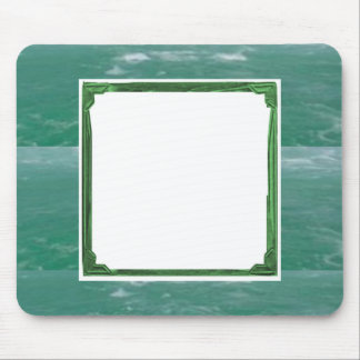 Sea Green Border Image / Text Holder Mouse Pad