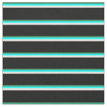 [ Thumbnail: Sea Green, Cyan, Light Yellow, and Black Colored Fabric ]