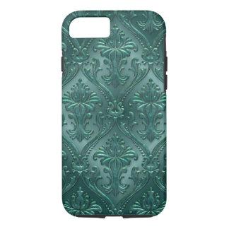 Sea Green Damask Gem Tone Tin Tile Steampunk iPhone 7 Case