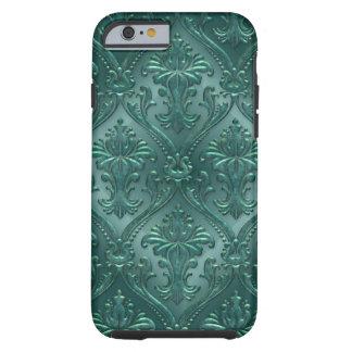 Sea Green Damask Gem Tone Tin Tile Steampunk Tough iPhone 6 Case