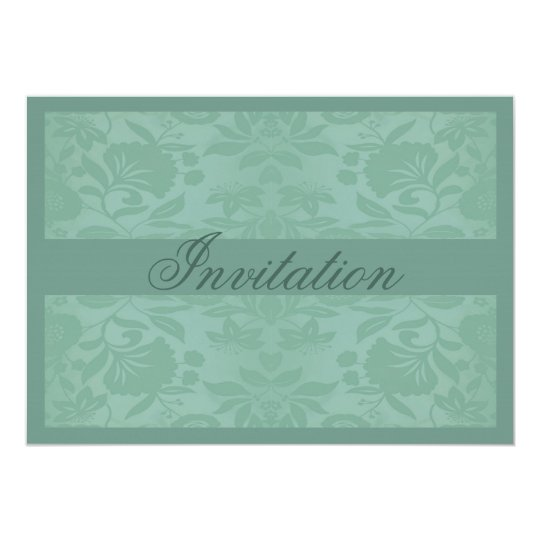 Sea Green Damask Mother's Day Card