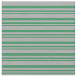 [ Thumbnail: Sea Green & Dark Gray Colored Stripes Pattern Fabric ]