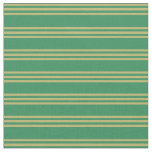 [ Thumbnail: Sea Green & Dark Khaki Striped/Lined Pattern Fabric ]